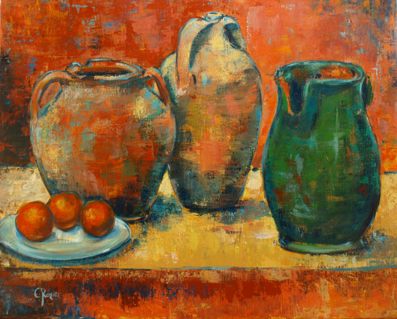 Jars - reproduction on canvas