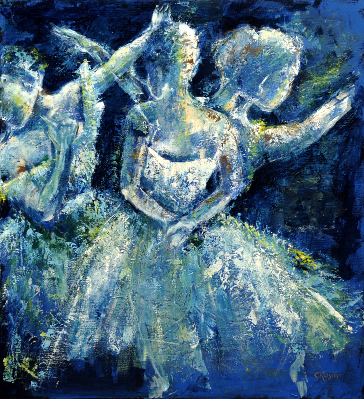 Ballerina - reproduction on canvas