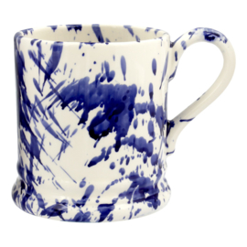 ½ pint mug spletter blue