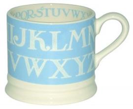small mug blue alphabet