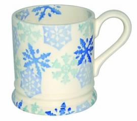 ½ pint mug Christmas snowflake
