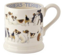 ½ pint mug all over terriers