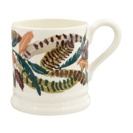 ½ pint mug  pheasant feathers