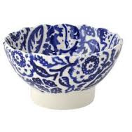 small fluted bowl blue wallpaper