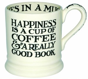 ½ pint mug black toast - happiness