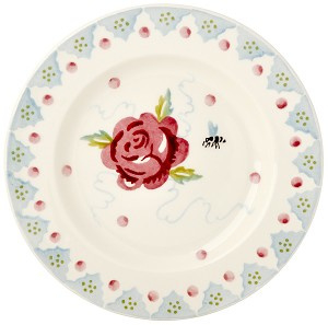 "6 1/2"" plate rose & bee"