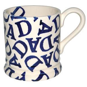 ½ pint mug dad blue
