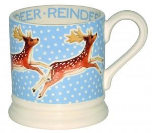 ½ pint mug reindeer