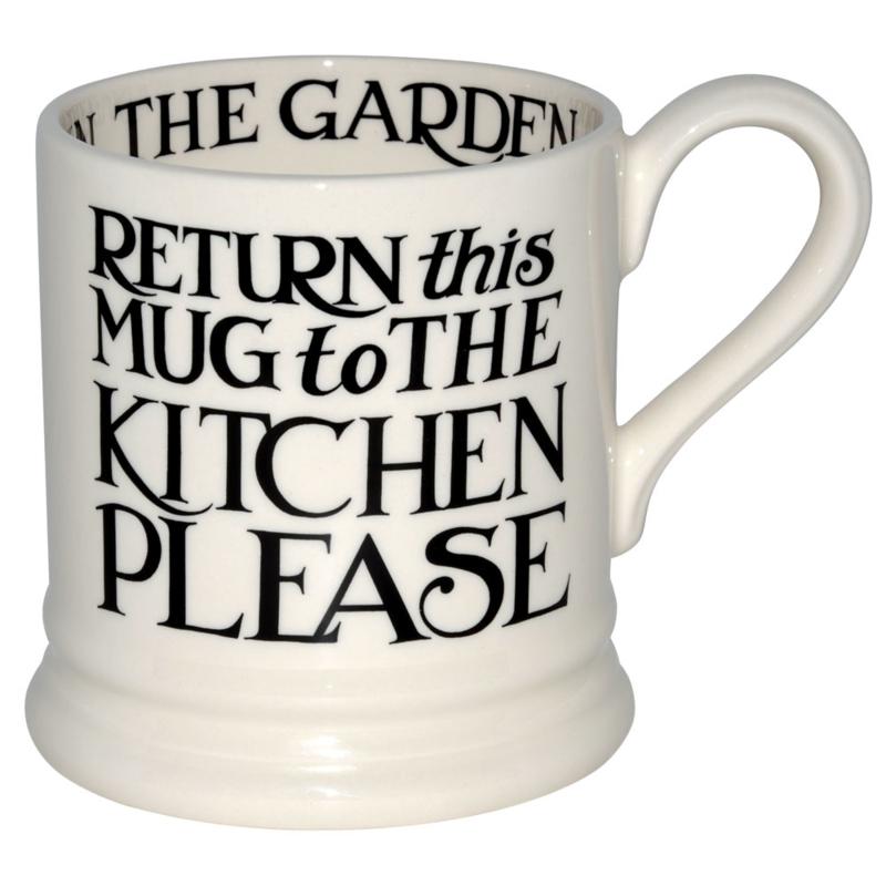 ½ pint mug black toast - return this mug