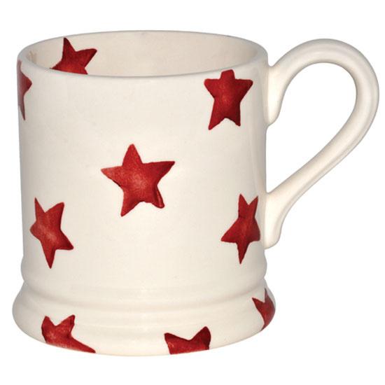 ½ pint mug red star