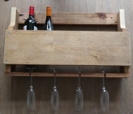 Wijnrek steigerhout