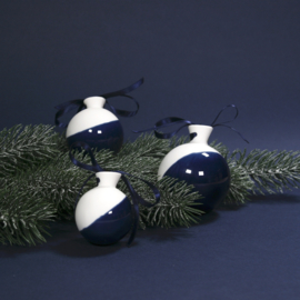ALS GEGOTEN kerstbal, kobalt blauw