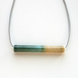 TUBE necklace, bronze+iron