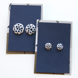 DOTS ear studs, cobalt
