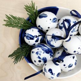 OPGEROLD kerstbal, kobalt blauw