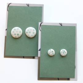 DOTS ear studs, bronze