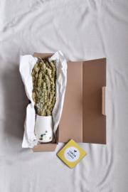 Cadeau box OPGEROLD kop + Çai Mali thee