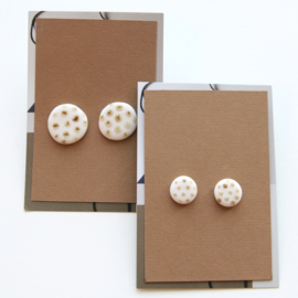 DOTS ear studs, iron