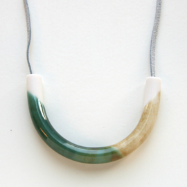 ARC necklace, bronze+iron