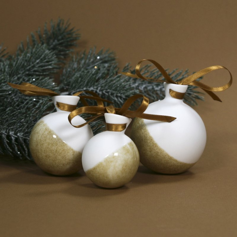 ALS GEGOTEN Xmas bauble, iron yellow