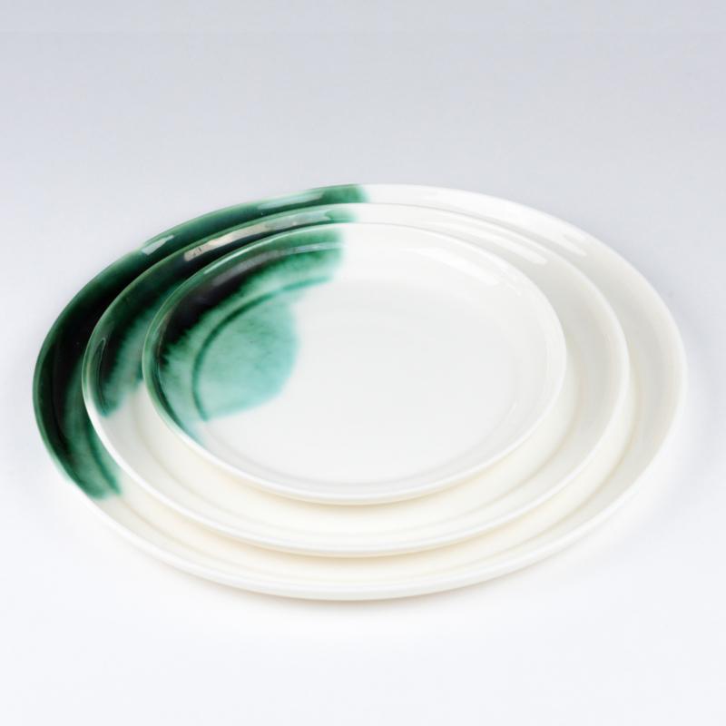ALS GEGOTEN plates, bronze green