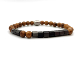 Morse code armband zoon, hout