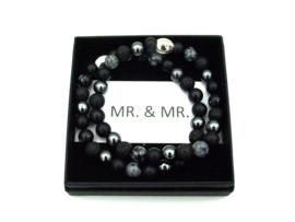 MR. & MR. armbandenset zwart
