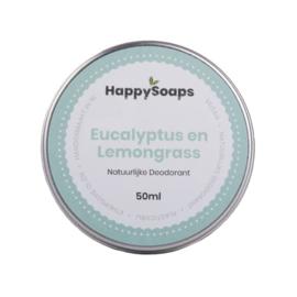 Natuurlijke deodorant | Eucalyptus en lemongrass | Happy Soaps