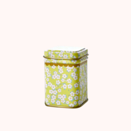 Bewaarblikje Bloemen Geel  | Rice