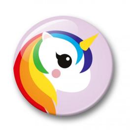 Button Eenhoorn regenboog| 32 mm