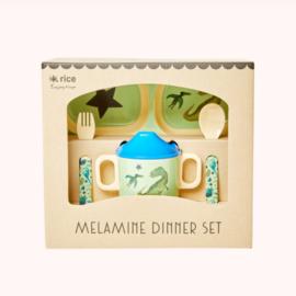 Melamine diner set Dino | Rice