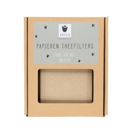 Papieren theefilters | 100 stuks