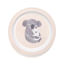 Melamine bord Koala Roze   Petit Monkey