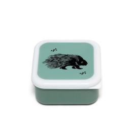Lunchbox zwarte egel op groen | Petit Monkey