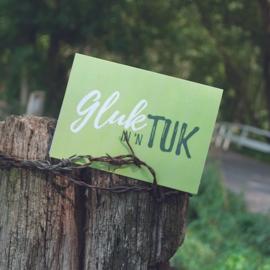 Dubbele kaart & envelop   Geluk in 'n tuk