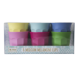 Rice melamine set van 6 bekers | Classic colors