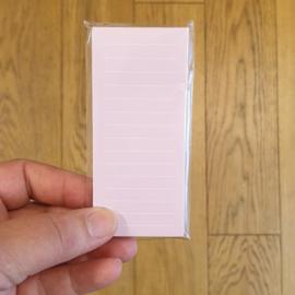 Sticky note | Roze streep | 4,5 x 10 cm