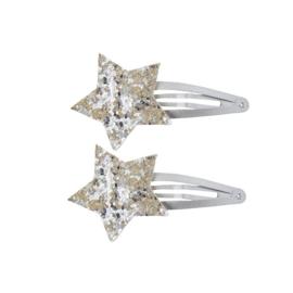 Haarknipjes Glitter Ster | Zilver