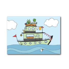 Postkaart | Woonboot