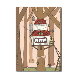 Postkaart | Boomhut