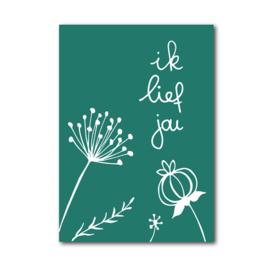 Postkaart | Ik lief jou
