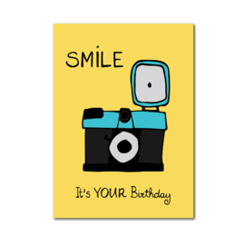 Postkaart | Smile, it's your birthday