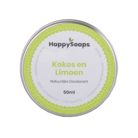 Natuurlijke deodorant | Kokos en Limoen | Happy Soaps