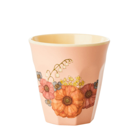 Rice melamine beker | Flowers