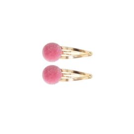 Haarknipjes Pom pom | Roze