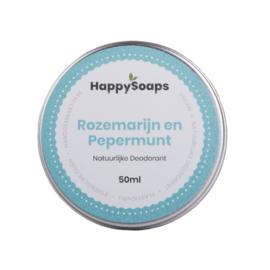 Natuurlijke deodorant | Rozemarijn en pepermunt | Happy Soaps