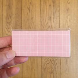 Sticky note | Roze grid | 4,5 x 10 cm