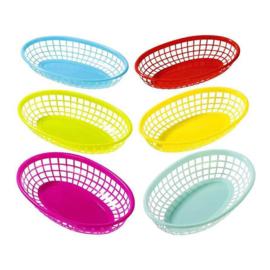 Set van gekleurde mandjes | 6 stuks