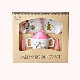 Melamine diner set Rice | Pink Party Animal
