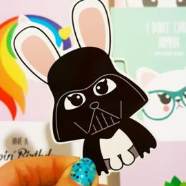 Sticker XL   Darth Bunny